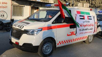 20 سيارة إسعاف من الإمارات إلى قطاع غزة