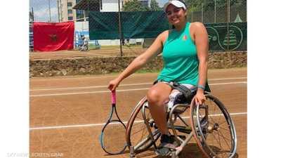 """نجوى.. قصة بطلة تنس مغربية نهش """"بيتبول"""" ساقها وتحدت الإعاقة"""