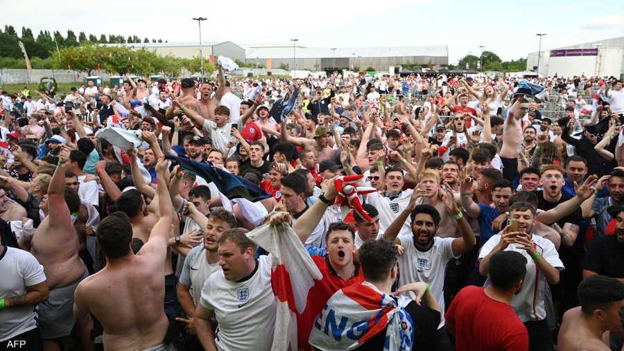 وسط لندن غص بمشجعي المنتخب الإنجليزي