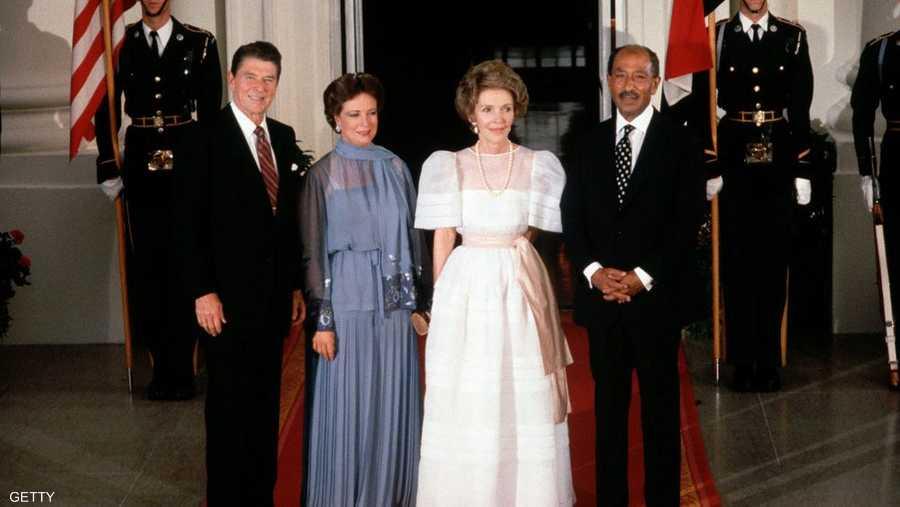 واستقبلت كذلك الرئيس الأميركي الراحل وزوجته رونالد ونانسي ريغان.