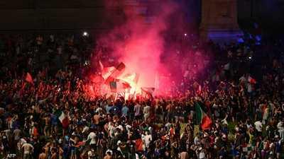 """فوز إيطاليا بـ""""يورو 2020"""".. الجماهير تحتفل والرئيس يعلق"""
