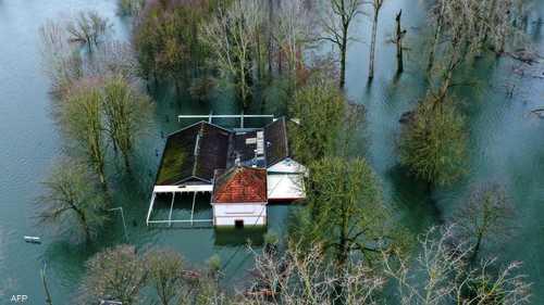 المياه تغمر منتجعا في ألمانيا بعد هطول غزير للأمطار