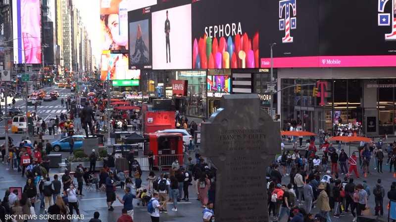 تايمز سكوير في نيويورك أكثر الميادين ازدحاما في العالم