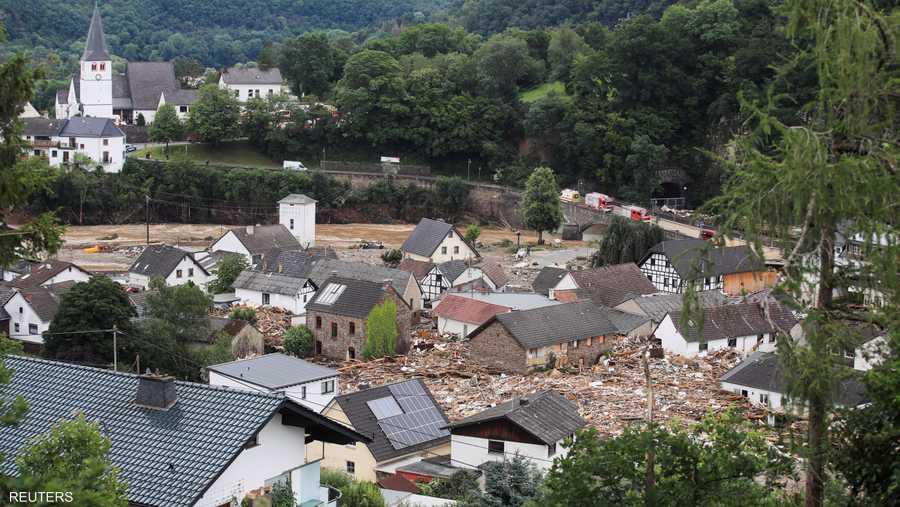 منازل كثيرة تضررت من الفيضانات