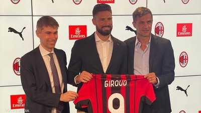 الفرنسي أوليفييه جيرو يكمل انتقاله إلى ميلان الإيطالي