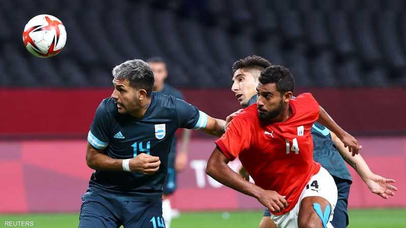 أحمد ياسر خلال مباراة الفراعنة أمام الأرجنتين