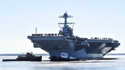 """""""جيرالد فورد"""".. حاملة طائرات أميركية بقدرات """"خارقة"""""""