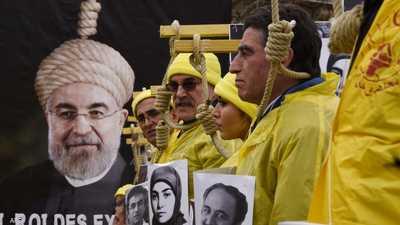مظاهرة ضد أحكام الإعدام في إيران.