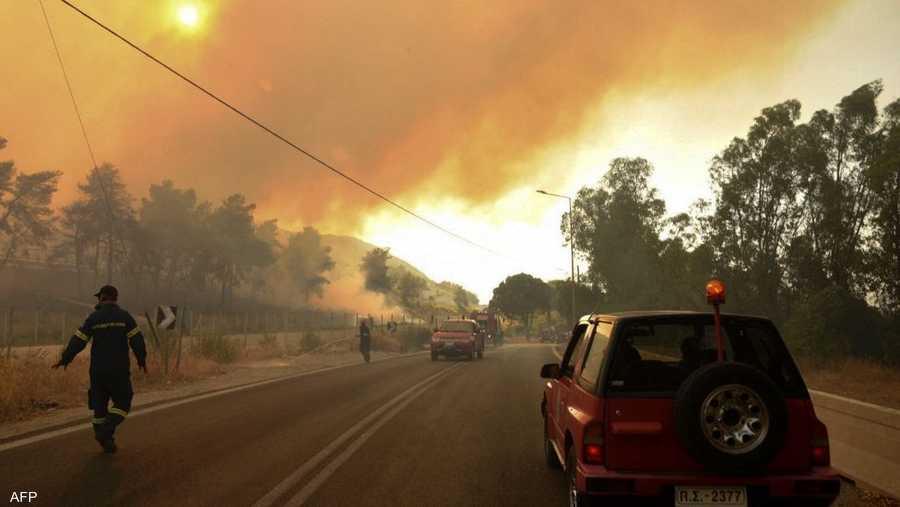 شملت الحرائق أغلبية الغابات الجبلية المحيطة بالسواحل المتجاورة للبلدان الثلاث.
