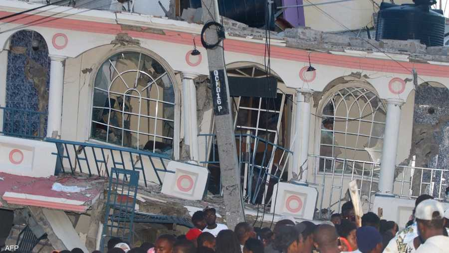 جنوب غرب هايتي هو المنطقة الأكثر تضررا من الزلزال خاصة مدينة لي كاي.