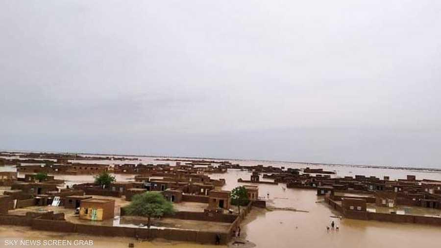 السيول الجارفة عزلت قرى كاملة