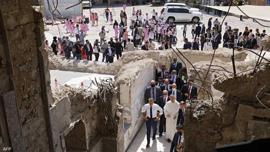 """تعد كنيسة """"سيدة الساعة"""" في الموصل، شاهدا على الدمار الذي ألحقه تنظيم """"داعش"""" الإرهابي بالمدينة على مدار 3 سنوات، انتهت بتحريرها سنة 2017."""
