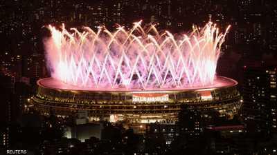 الألعاب النارية تختم بارالمبياد طوكيو.. و57 ميدالية للعرب