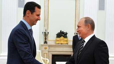 """بوتن غاضب من وجود """"غير قانوني"""" في سوريا.. والأسد يشكره"""
