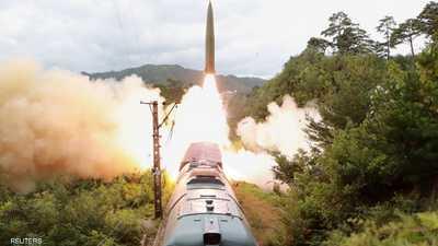 """بالصور.. كوريا الشمالية تطلق """"قطار الصواريخ"""""""