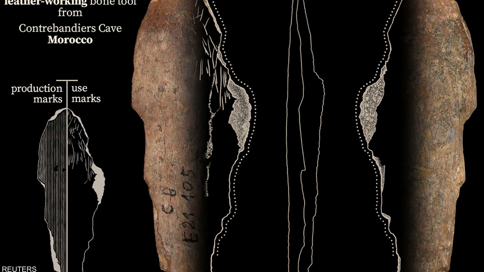 صور.. مغارة مغربية تكشف أقدم الأدلة على بداية صنع الملابس 1-1464302