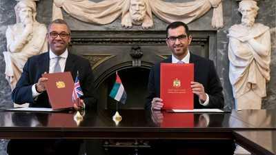 الإمارات وبريطانيا توقعان اتفاقية لتعزيز تعاون المناخ