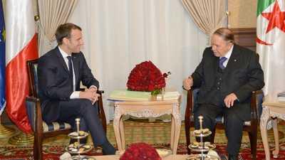 """ماكرون عن بوتفليقة: """"وجه كبير"""" للجزائر و""""شريك لفرنسا"""""""
