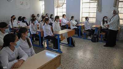 طالبات في إحدى مدارس أربيل شمالي العراق.