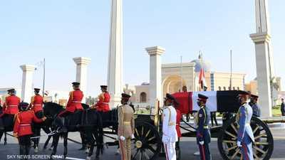 جنازة عسكرية ضخمة لأول حاكم لمصر بعد مبارك