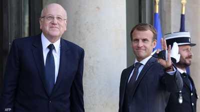 ماكرون يؤكد على دعم لبنان ويطالب ميقاتي بإصلاحات فورية