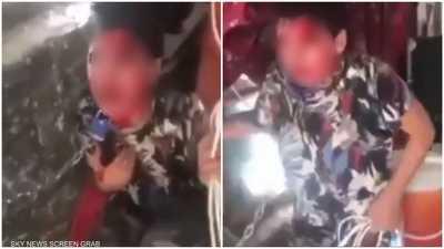 فيديو مروع لتعذيب طفل عراقي على يد والده يدفع الكاظمي للتدخل