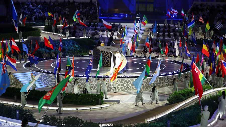 مشهد من حفل افتتاح إكسبو 2020 دبي