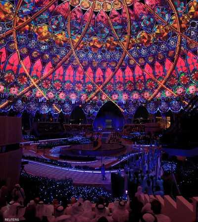 """شهدت مدينة دبي الإماراتية، مساء الخميس، حفل افتتاح معرض """"إكسبو 2020 دبي""""، بمشاركة نخبة من الفنانين العرب والعالميين."""