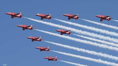 سلاح الجو البريطاني يقدم استعراضات جوية في سماء إكسبو