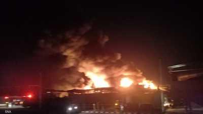 مصر.. حريق ضخم بمصنع كيماويات في الإسماعيلية