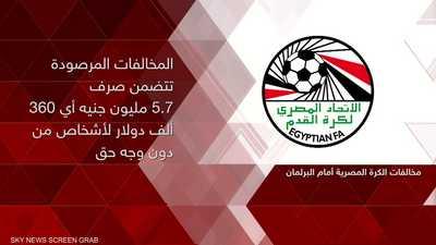 """""""مخالفات"""" الكرة المصرية أمام البرلمان"""