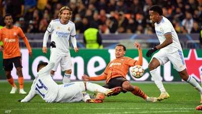 ريال مدريد يمطر شاختار بخمسة أهداف في أبطال أوروبا