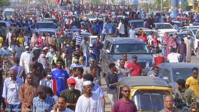 احتجاجات حاشدة في الخرطوم دعما للتحول الديمقراطي