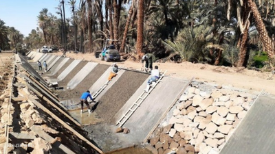 """مصر تحارب هدر المياه بـ""""مشروع تبطين الترع"""".. ما فوائده؟"""
