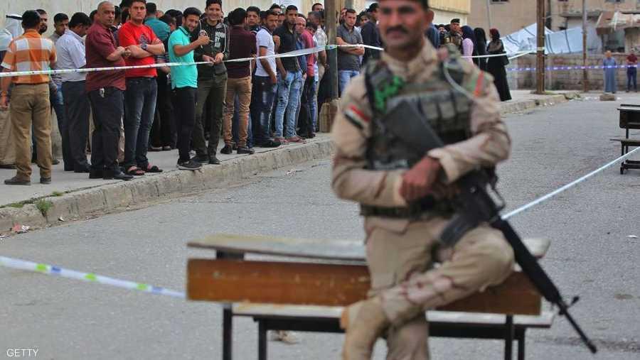 طوابير المصوتين في الموصل