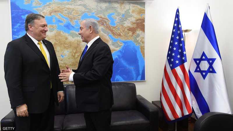 نتانياهو وبومبيو في لقاء سابق