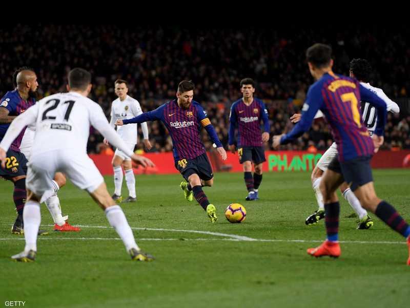 ميسي يجنب برشلونة السقوط أمام فالنسيا