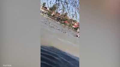غرق 45 شخصا بانقلاب عبارة في نهر دجلة بالعراق