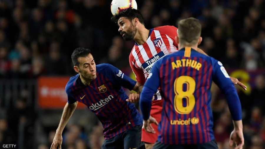 بدأ أتلتيكو مدريد المباراة بشكل جيد لكن خطته انهارت عندما طُرد مهاجمه دييغو كوستا في الدقيقة 28.