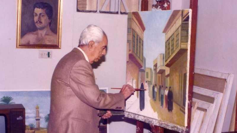 حافظ الدروبي وهو يلون شوارع بغداد