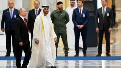 محمد بن زايد وبوتن يؤكدان على عمق العلاقات والتعاون المستمر