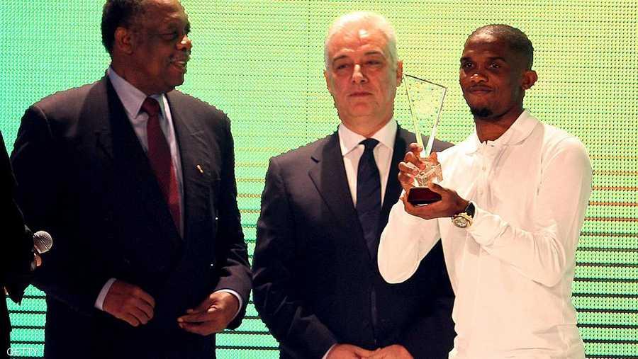 نجم الكاميرون صامويل إيتو كان نجم أفريقيا الأول 4 مرات