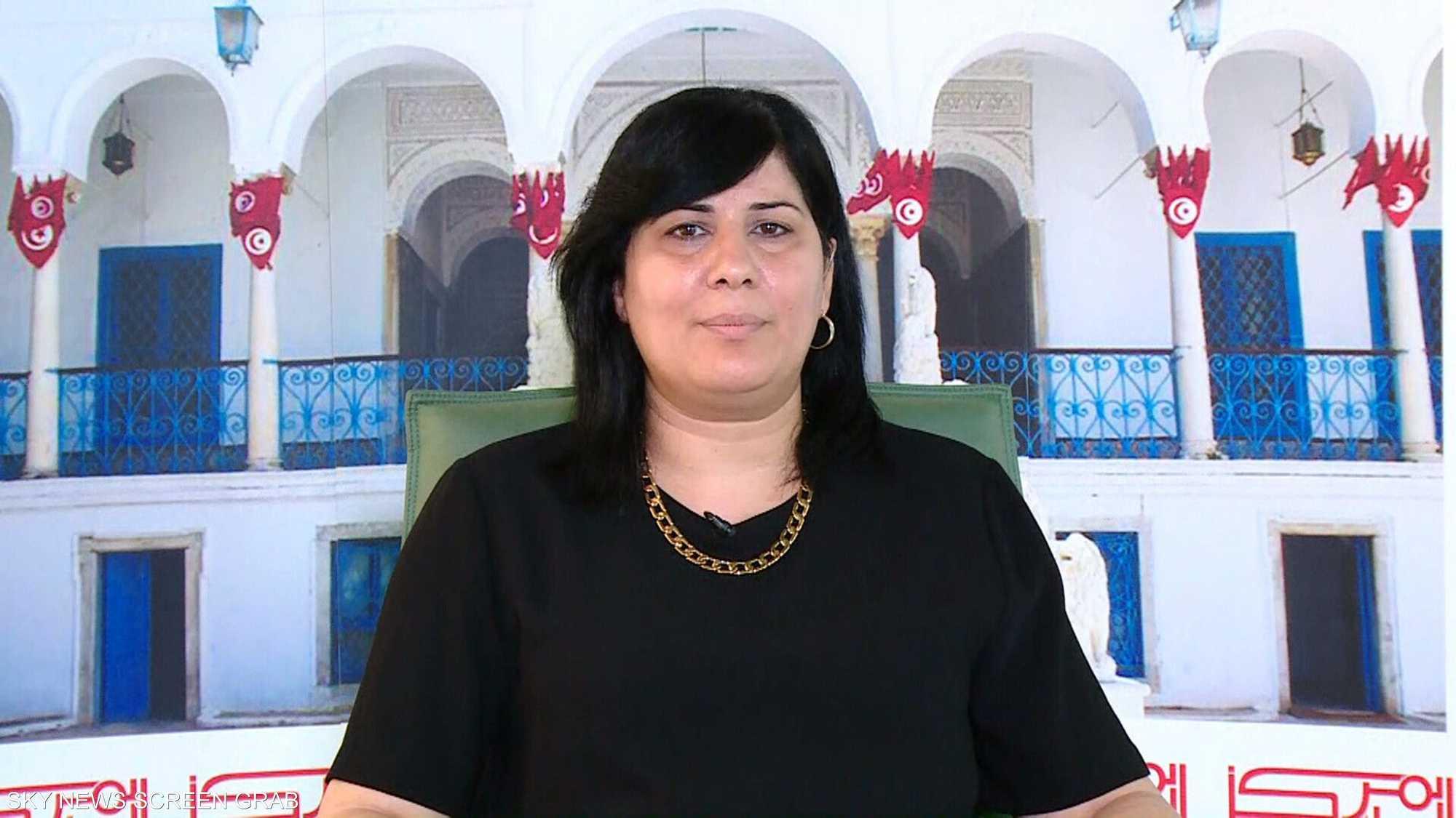 رئيسة كتلة الحزب الدستوري الحر في البرلمان التونسي عبير موسي