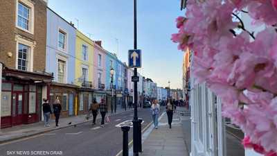 """عمارات بألوان الحلويات.. تعرف على شوارع """"قوس قزح"""" في لندن"""