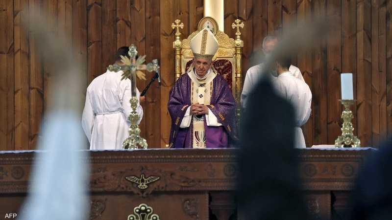 تلا البابا صلاة كرر خلالها التركيز على أحد أهم أهداف زيارته