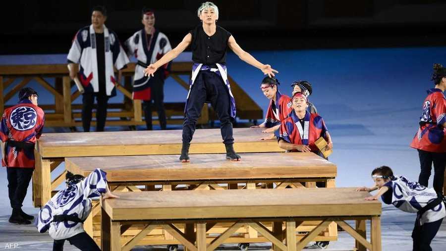 رقص من التراث الياباني خلال الافتتاح