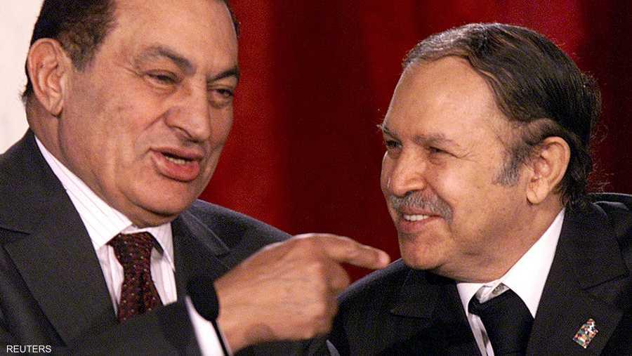 مع الرئيس المصري الراحل حسني مبارك