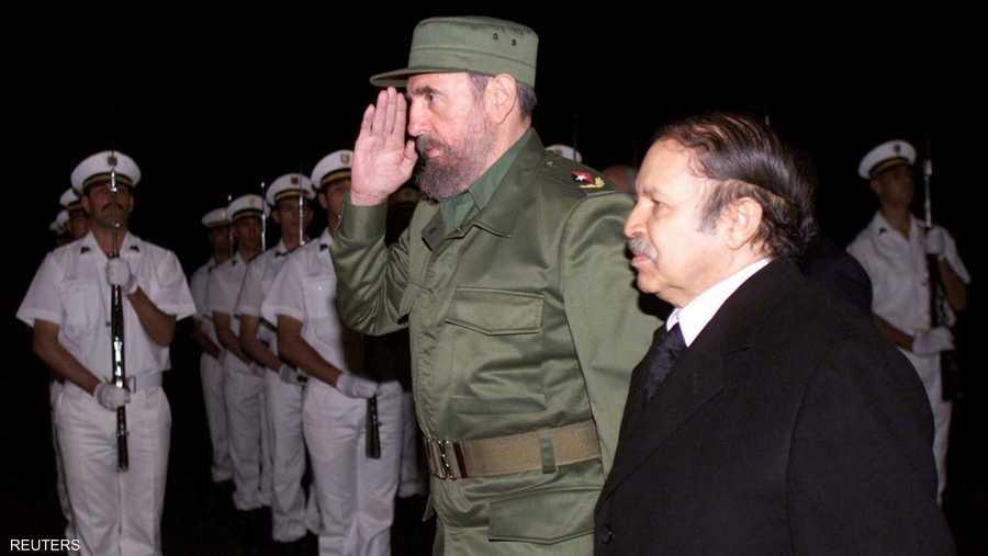 مع الزعيم الكوبي الراحل فيدل كاسترو